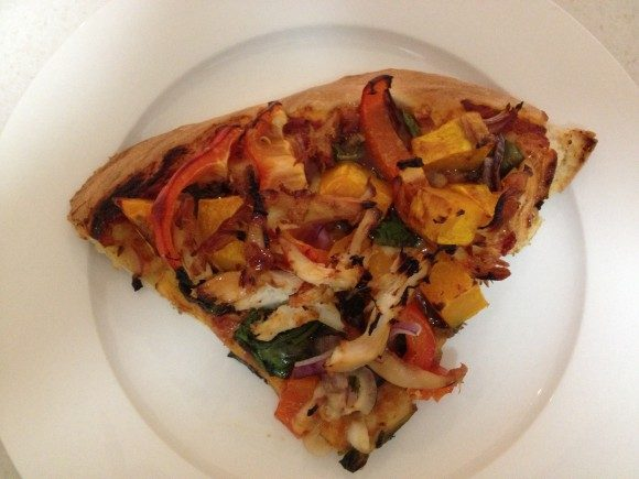 Leftover Roast Chicken Pizza