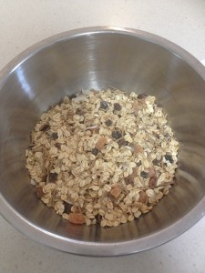 Use about 3 cups of muesli (you could double the batch if you wanted lots of bars!)