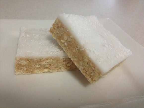 No Bake Lemon Coconut Slice