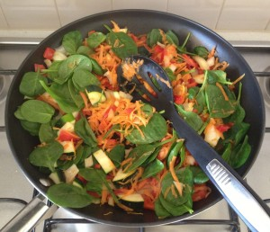 Before the baby spinach magically disappears!!