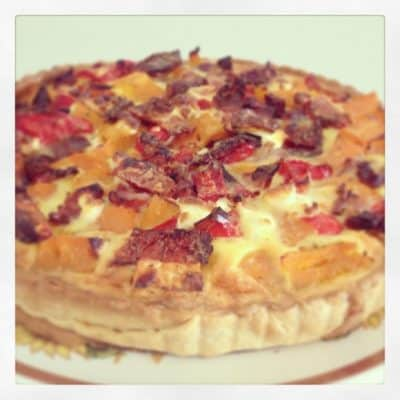 Just A Simple Roast Vegetable Quiche… Perfect For A Lazy Lunch!