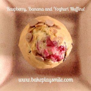 Banana, Raspberry & Yoghurt Muffins