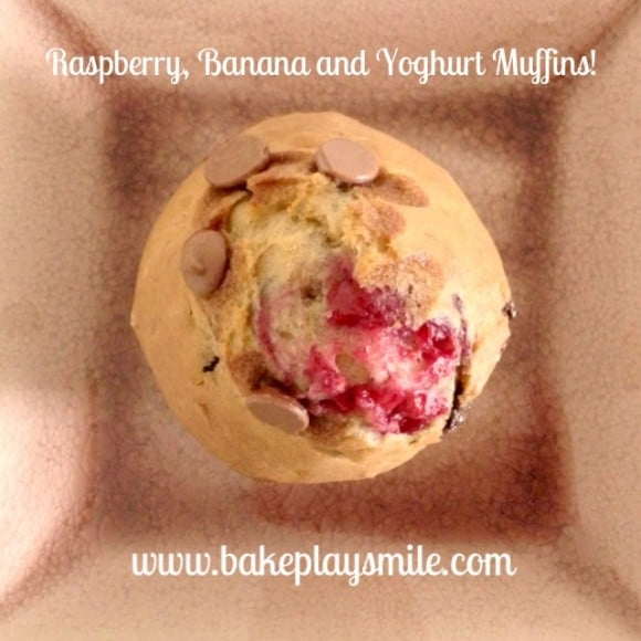 Raspberry, Banana and Yoghurt Muffins