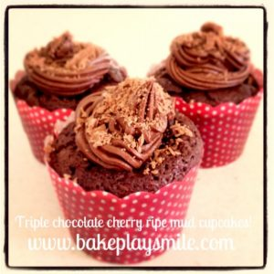 Cherry Ripe Cupcakes