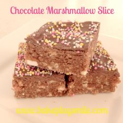 Chocolate Marshmallow Slice… with Sprinkles (Of Course!)