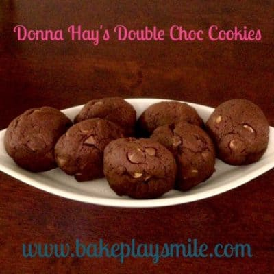 The Best Ever Double Choc Cookies (a Donna Hay recipe)