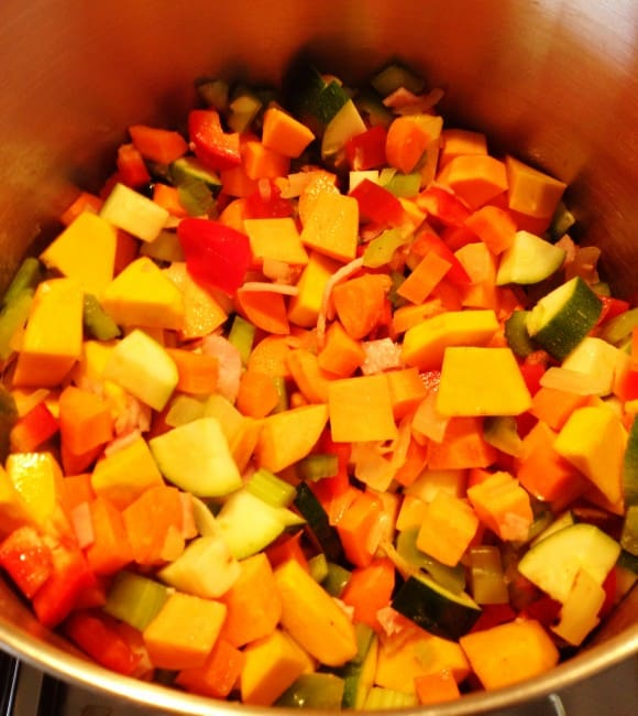 Vegetable & Bacon Soup