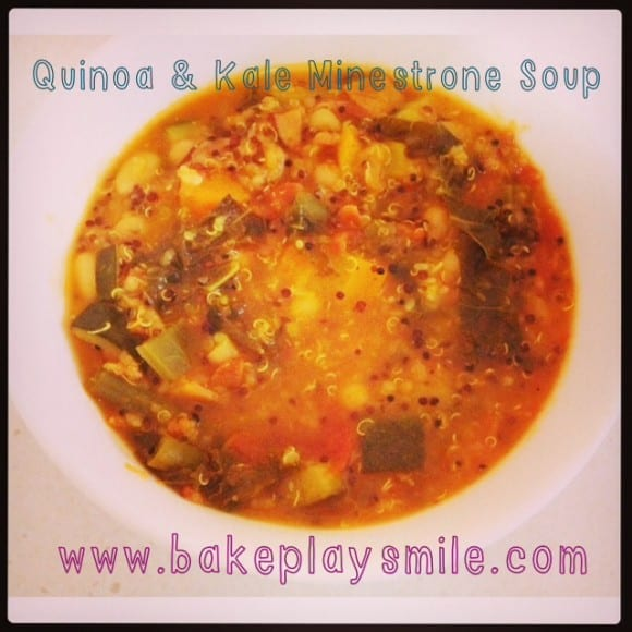 Quinoa and Kale Minestrone Soup
