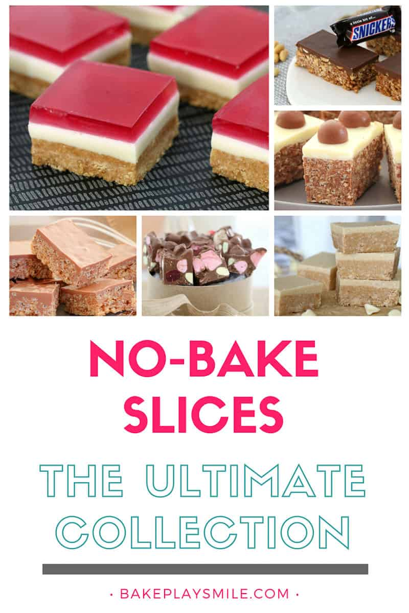 A collection of no-bake slice recipes.