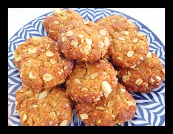 Macadamia Nut Anzac Biscuits