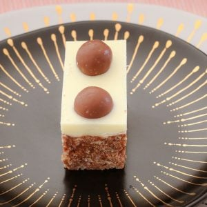 My no-bake chocolate Malteser Slice takes only 10 minutes to prepare... and tastes AMAZING! This is one of my most popular slice recipes ever!