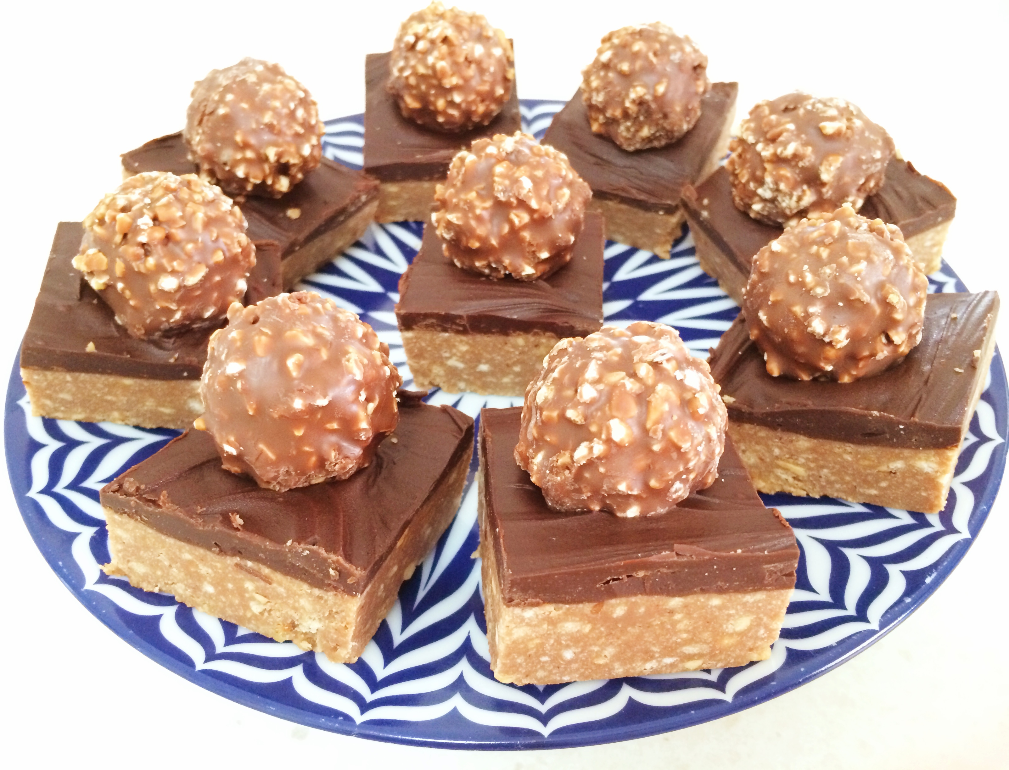 Ferrero Rocher Chocolate Hazelnut Slice - Bake Play Smile