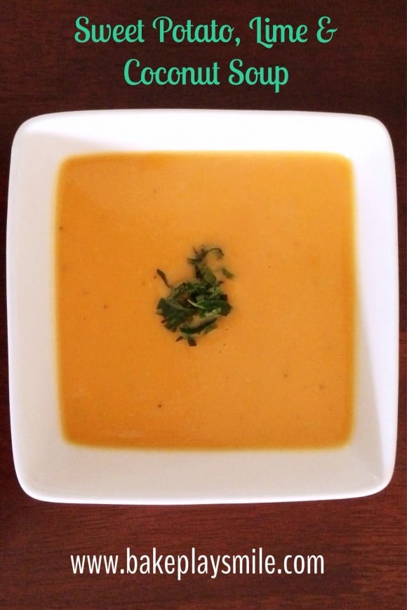 This Sweet Potato, Lime and Coconut Soup is so fresh and delicious ...