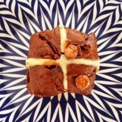 Triple Chocolate Hot Cross Buns