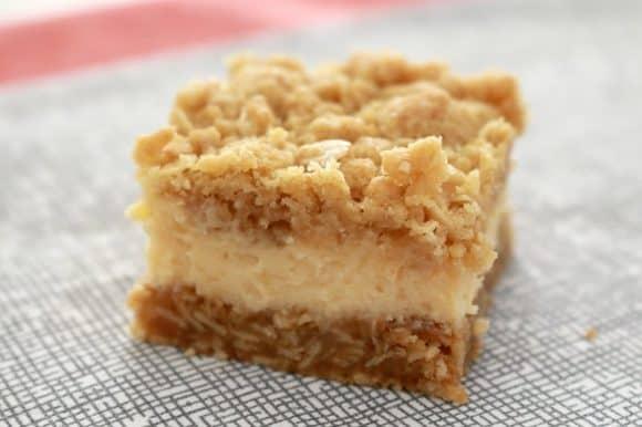 Creamy Lemon Crumble Bars - Bake Play Smile