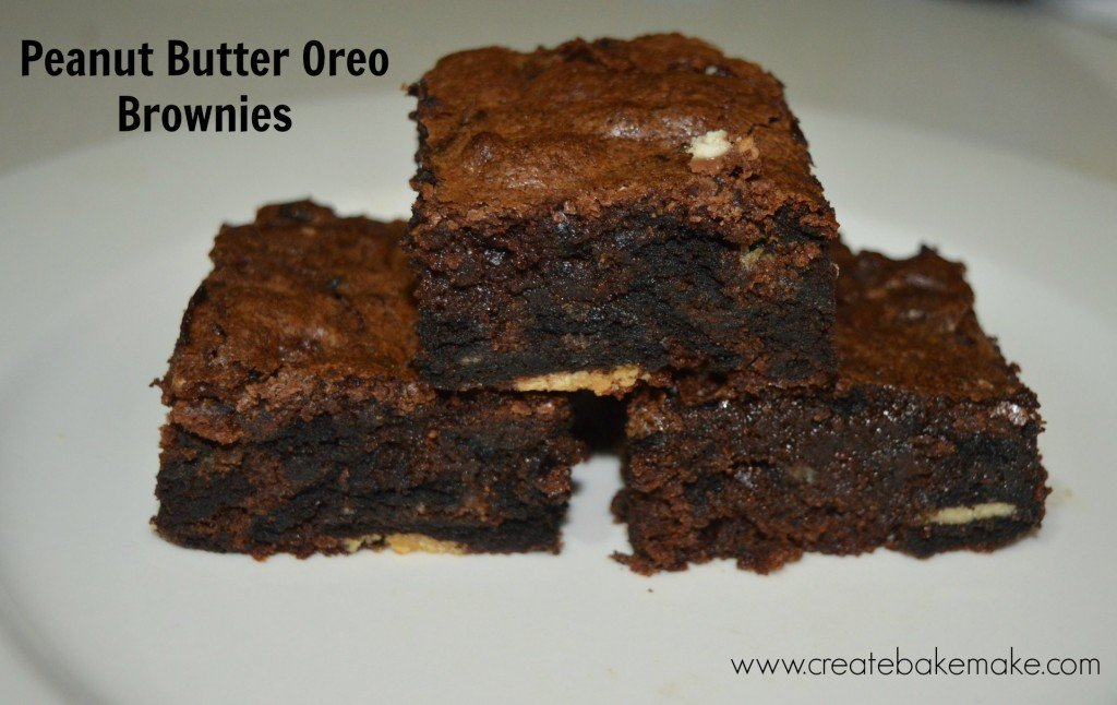 Peanut Butter Oreo Brownies