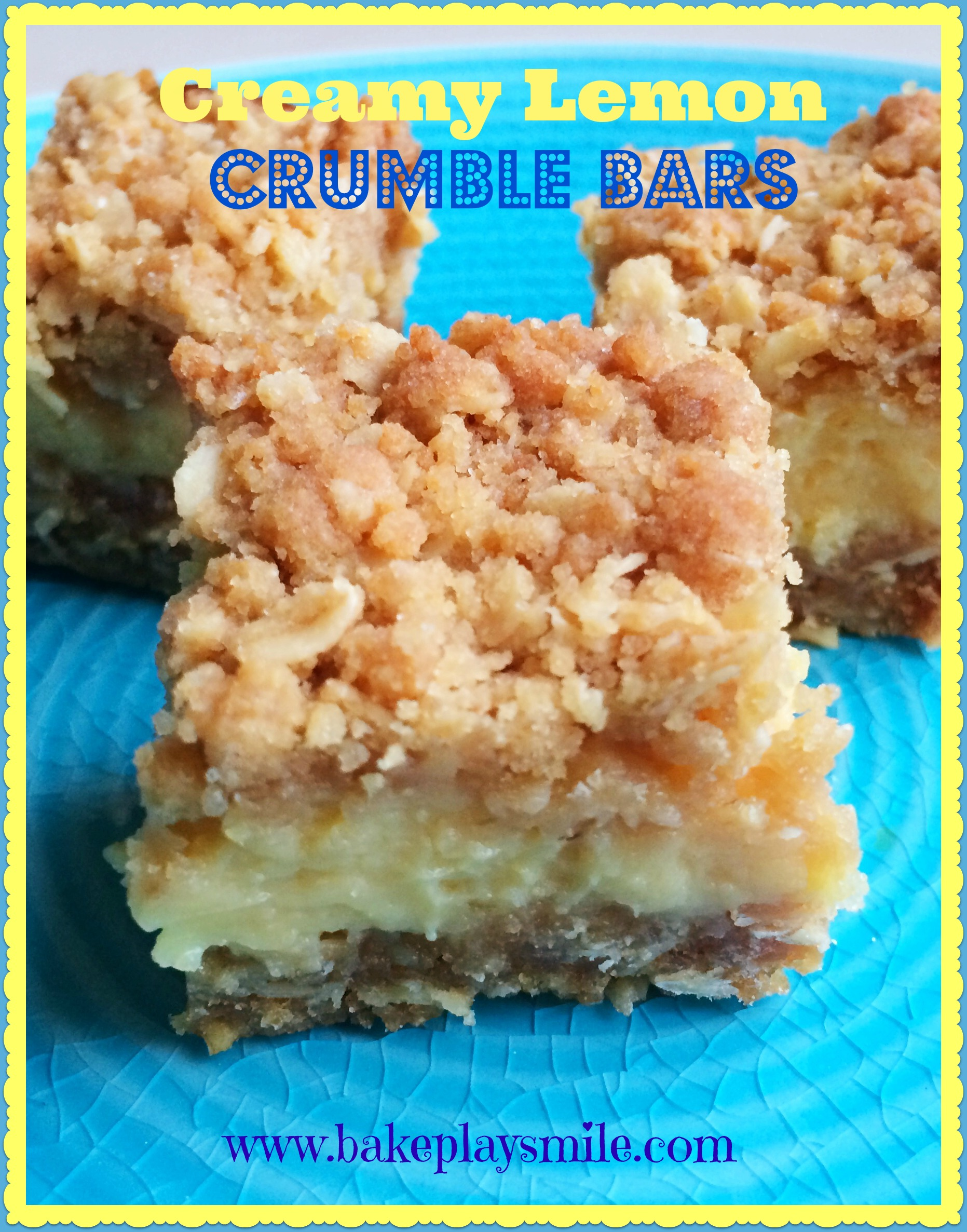 ... Biggest Morning Tea and decided to make Creamy Lemon Crumble Bars