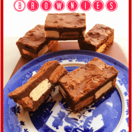 Tim Tam Stuffed Brownies