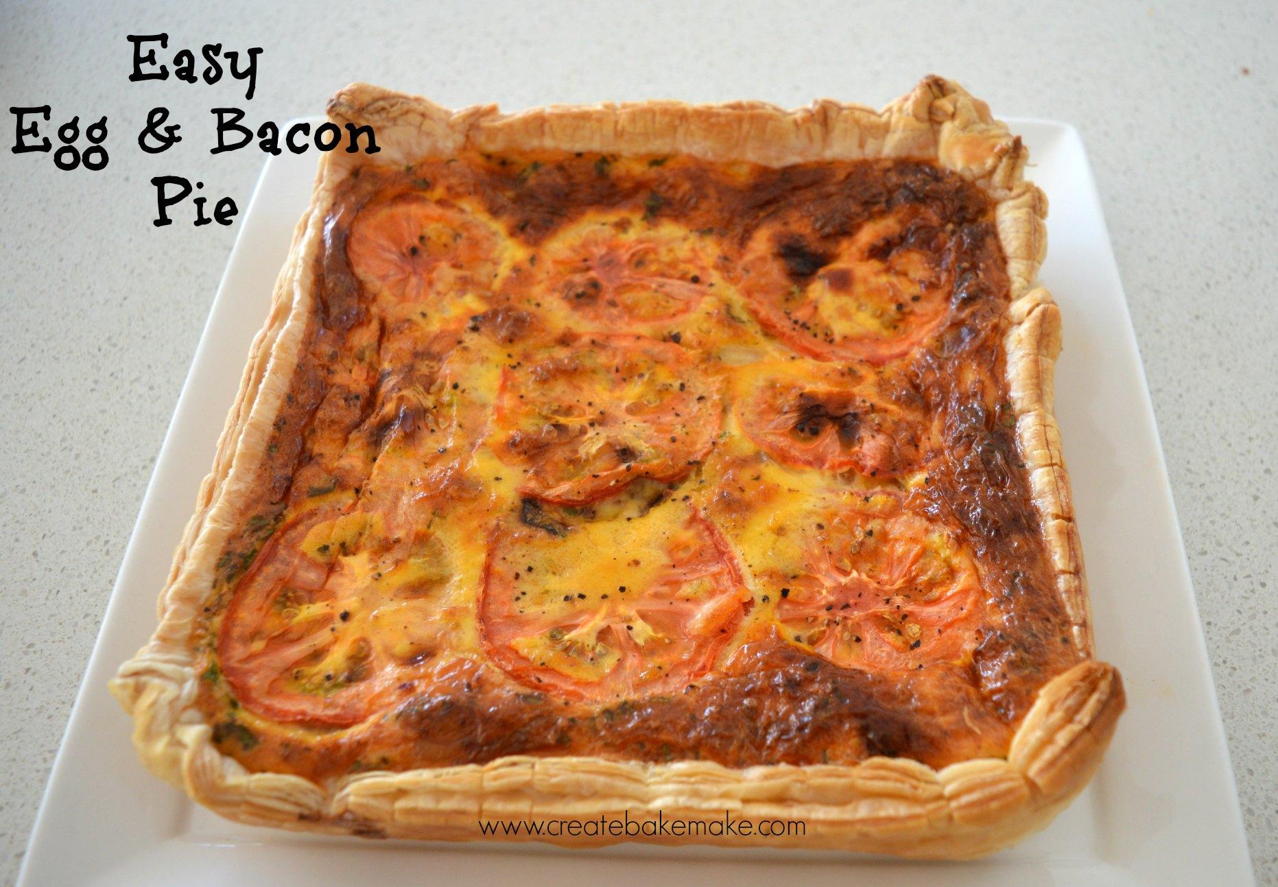 easy egg and bacon pie family friendly dinner bake