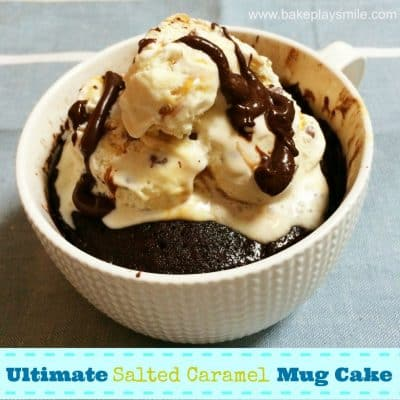 The Ultimate Salted Caramel Chocolate Mug Cake - Bake Play ...