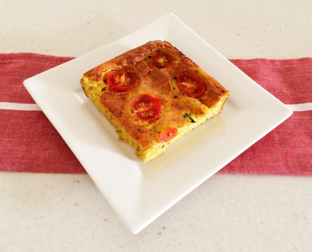Tomato, Prosciutto & Zucchini Slice
