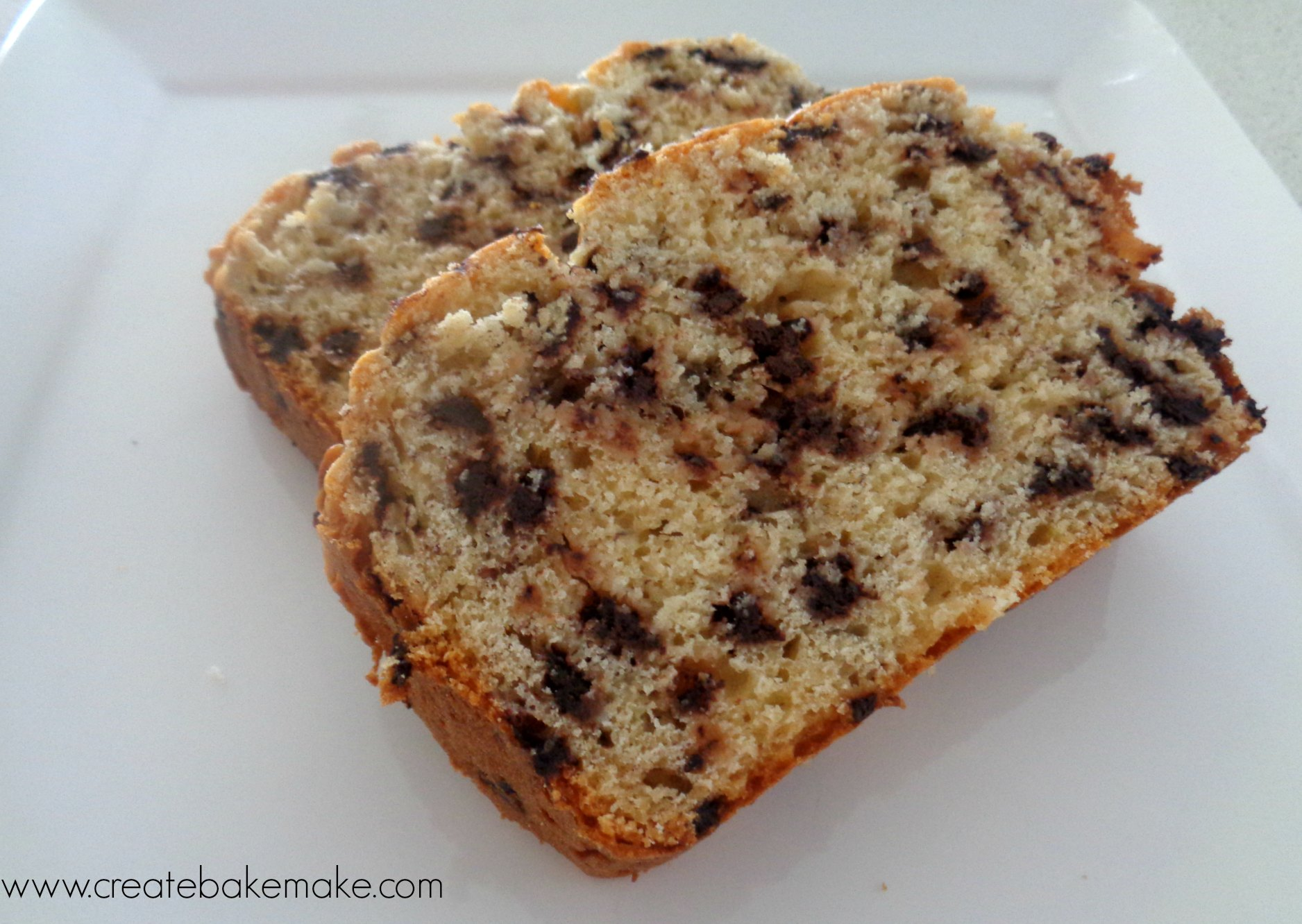 Chocolate Chip Banana Bread (simple and delicious!) - Bake Play Smile