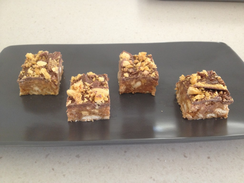 Chocolate Crunchie Slice