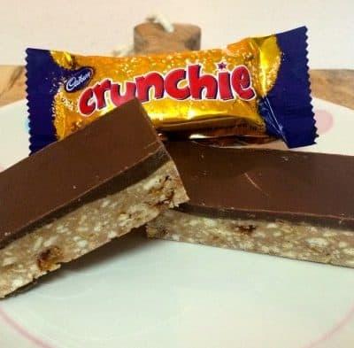 Chocolate Crunchie Slice (no bake)