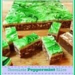 Peppermint Chocolate Slice