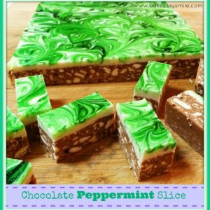 Peppermint Chocolate Slice