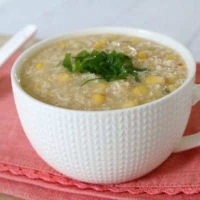 Chicken & Corn Soup (20 Minutes)