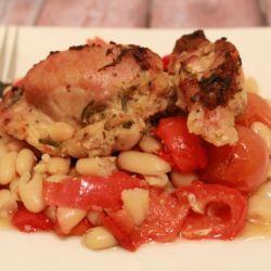 Italian Baked Chicken & Beans (One-Tray!)