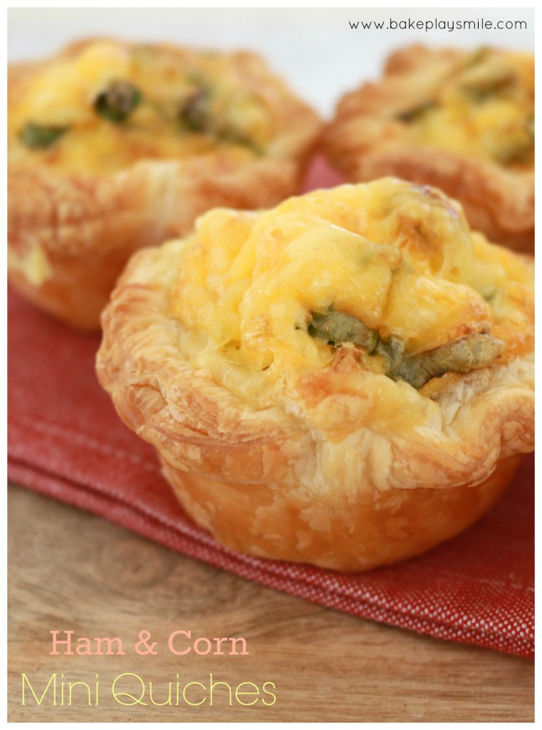 Ham & Corn Mini Quiches