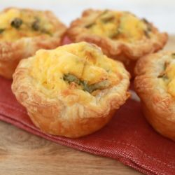 Ham & Corn Mini Quiches (quick & easy)