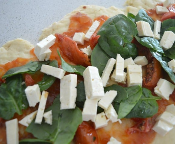 Spinach Feta and Tomato Scrolls