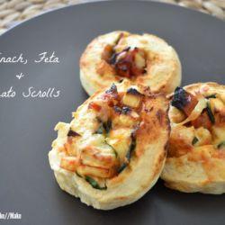 Spinach, Feta & Tomato Scrolls