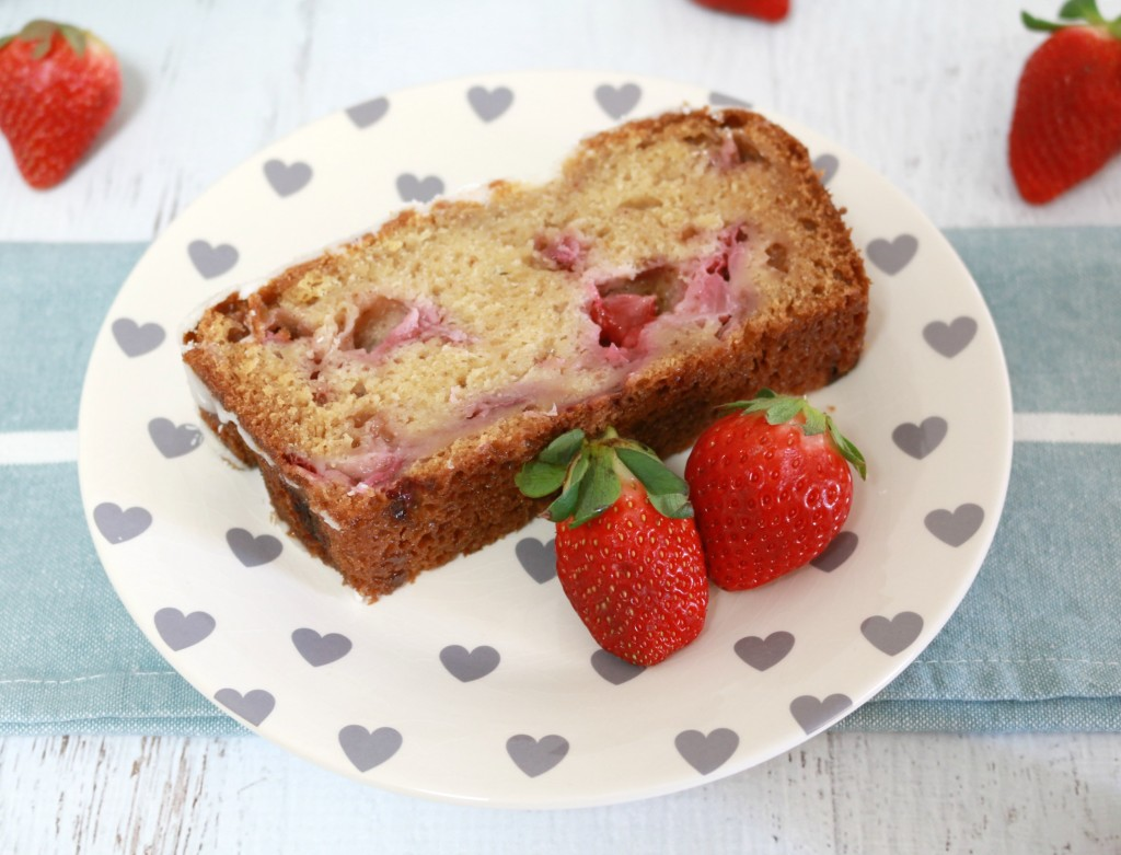 Lemon Glazed Strawberry Loaf