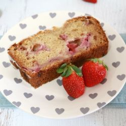Lemon Glazed Strawberry Loaf