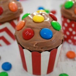 Chocolate Cupcakes with M&Ms