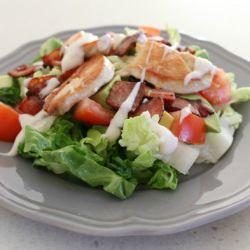 Chicken and BLAT Salad (Bacon, Lettuce, Avocado & Tomato)