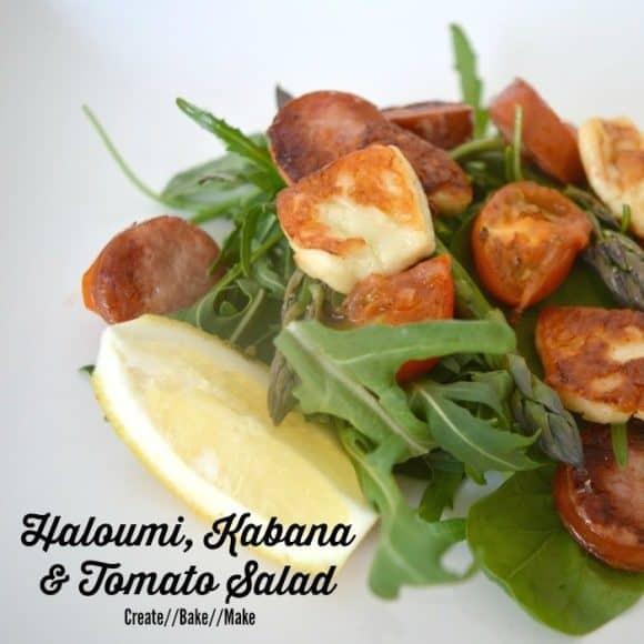 Haloumi, Kabana & Tomato Salad recipe...