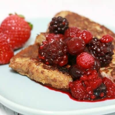 Fruity French Toast (made with fruit bread!)
