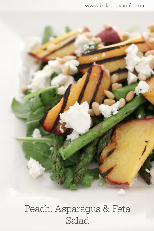 Peach, Asparagus & Feta Salad