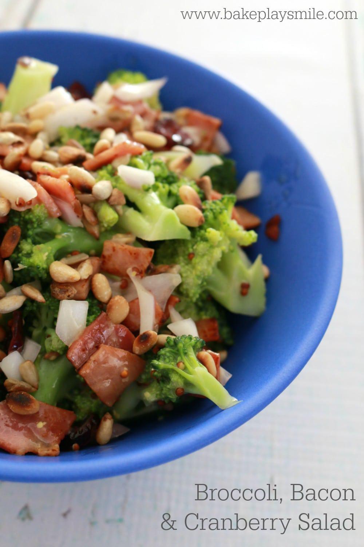 broccoli, bacon & cranberry salad