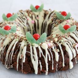Clinkers Rocky Road Wreath (Christmas recipe)
