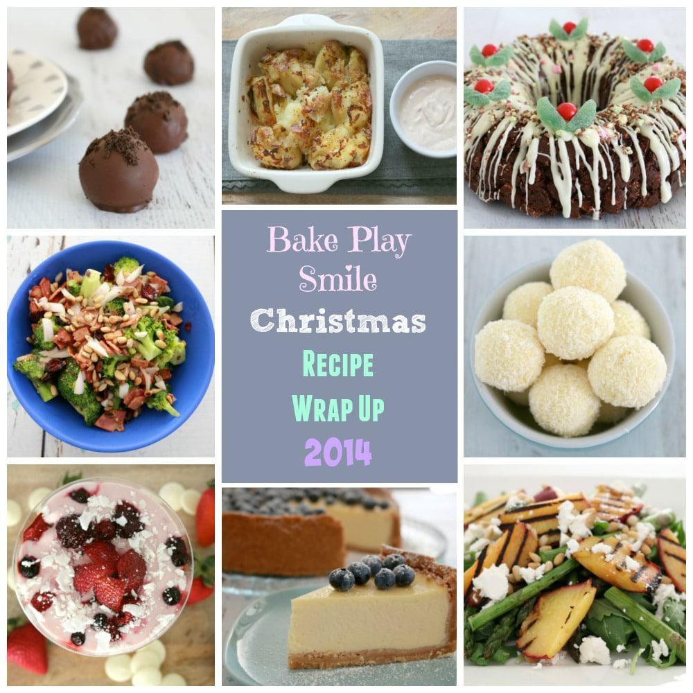 Christmas recipe collage