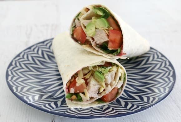 Leftover Roast Turkey Wraps