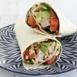 Leftover Roast Turkey Wraps