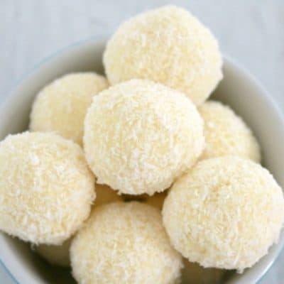 Lemon & White Chocolate Truffles
