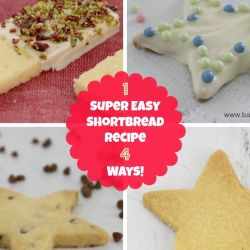 1 Super Easy Shortbread Recipe 4 Ways